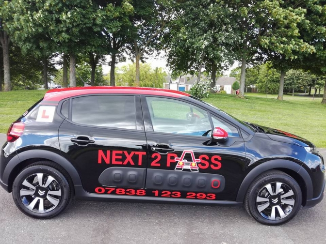next 2 pass driving tuition car
